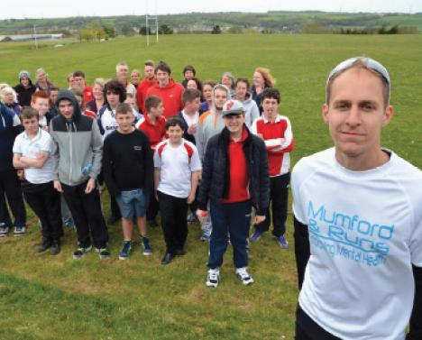 Charity challenge: Dan is joined by students, staff and family members at the Fun Run.