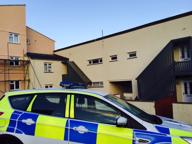 Police at scene: Hawthorn   Path, Mount Estate, Milford Haven.