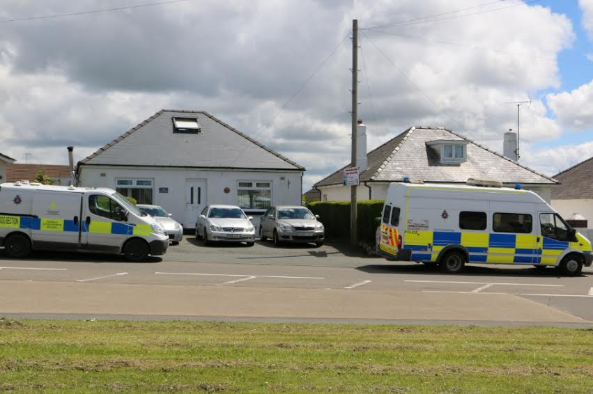 Police at Leigh Salters house in Milford Haven on Friday May 29