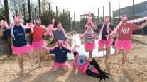 Narberth Rugby Team: Pretty in pink!