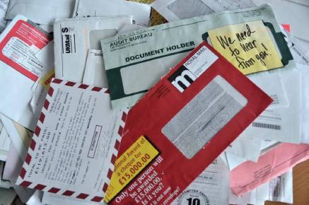 Scam mail: The mail received by the elderly Pembrokeshire couple