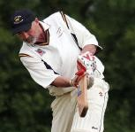 Andrew Cole: Batting for Lawrenny against St Ishmaels. (Pic. Susan McKehon).