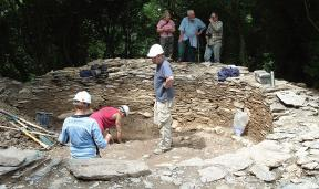 Nevern Castle: Archaeologist digs