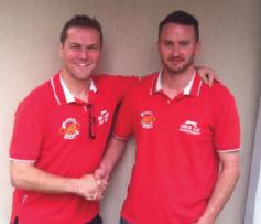 New boss: Matthew Price and Simon Gilderdale look to take the West Dragons forward.