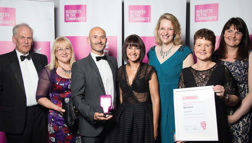 (L-R): Ted Sangster, Wendy Goldsworthy and Marten Lewis, Darwin Centre; Lucy Owen, BBC Wales; Becky Lumlock and Karen Wood, Dragon LNG and Kathryn Robson