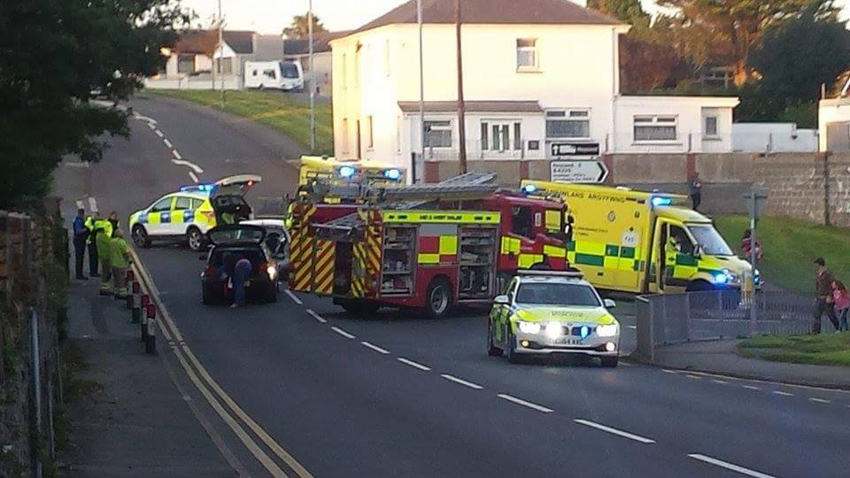 North Road accident: Emergency services at scene ( Pic: Jason Davies)