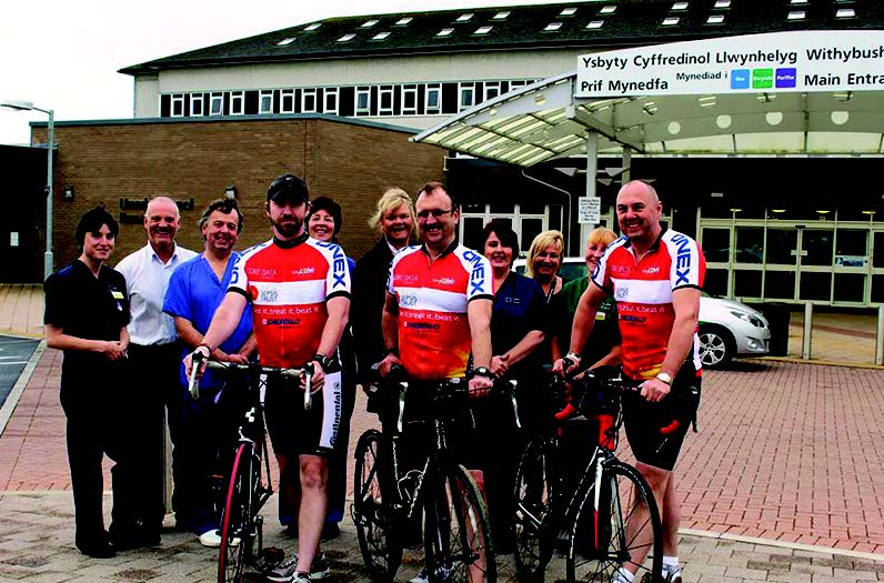 The cyclists : A t Withybush Hospital