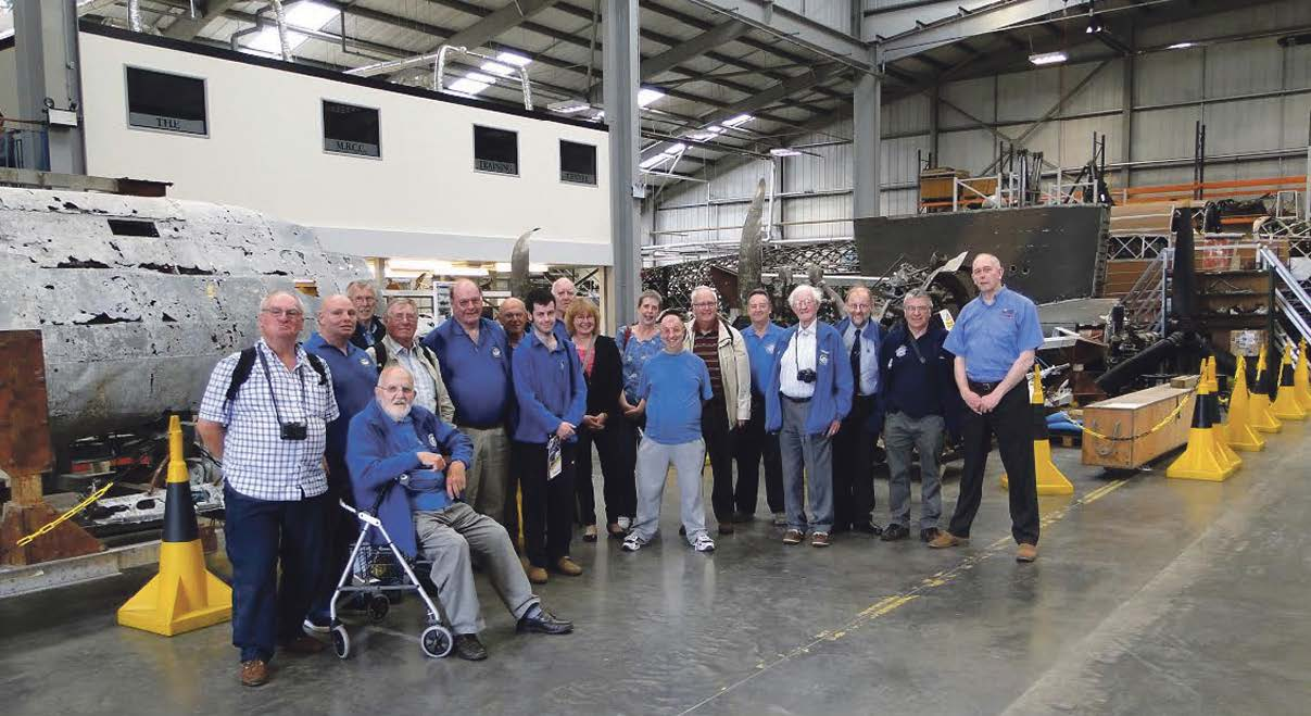 Behind the scenes: The Sunderland Trust group with Darren Priday in the Conservation Centre at Cosford