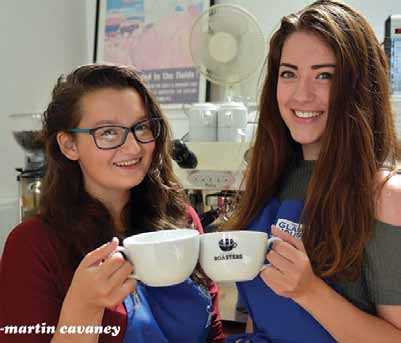 At the Pembroke Dock Heritage Centre Coffee Shop: Hollie Wiggins (left) and Holly Kenniford (Pic. Martin Cavaney)