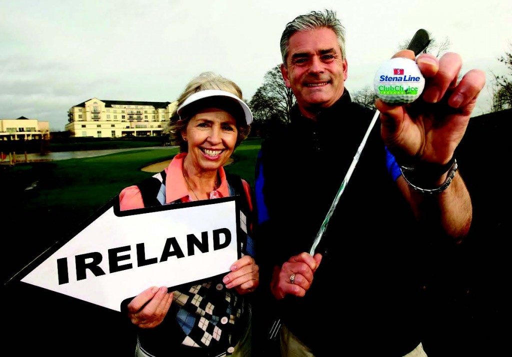 Down to a 'tee' : Two golfers get in some practice ahead of three prestigious open golf events in Ireland in 2016