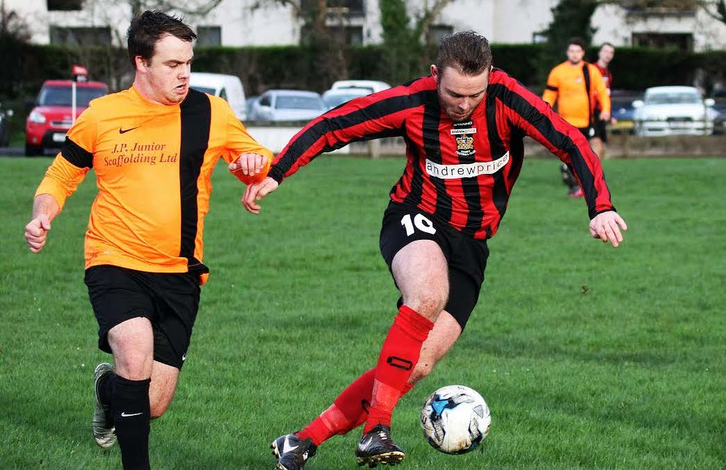 Hat-trick hero: Joe Leahy's three goals helped Tenby to victory over Johnston. Pic Susan McKehon