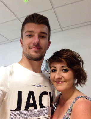 Hospital campaigners Myles Balford-Lewis and partner Jasmine McGinley