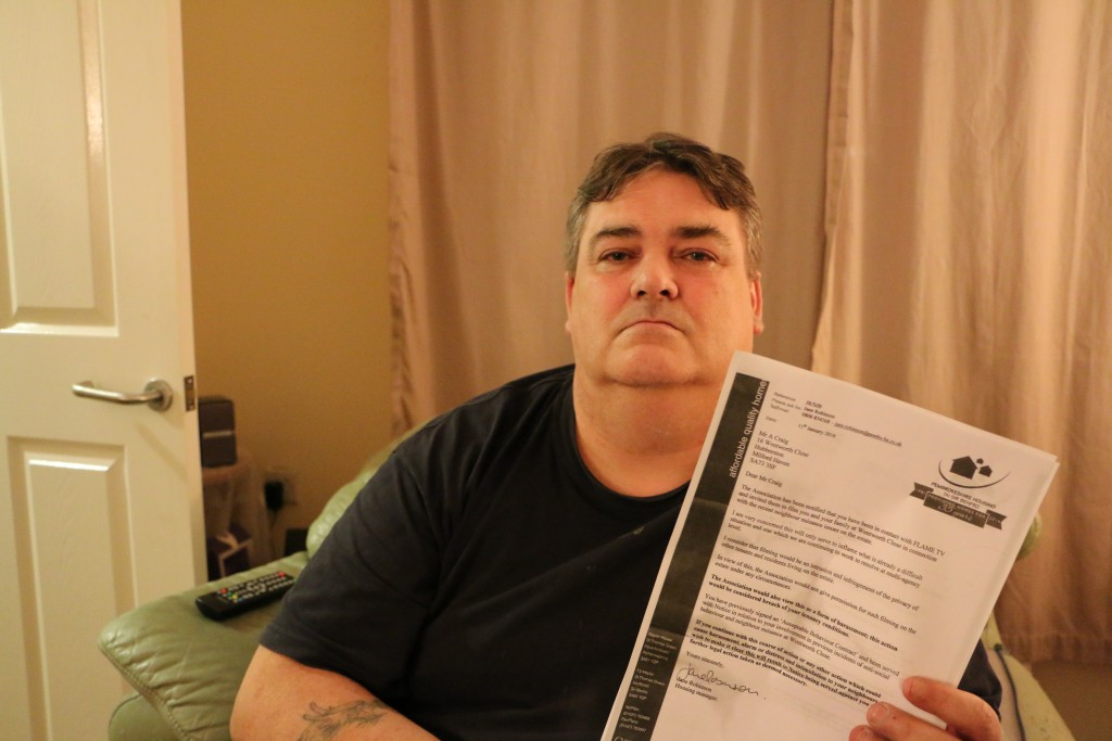 Threatened with eviction: Tony Craig