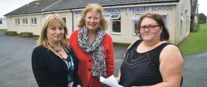 (L-R): Bev Stephens, Head of Pembrokeshire's Gypsy Traveller Education Service and Director of the Unity Project; Julie Morgan, AM Chair of the Gypsy and Travellers Cross Party Group and Leeanne Morgan, Unity volunteer