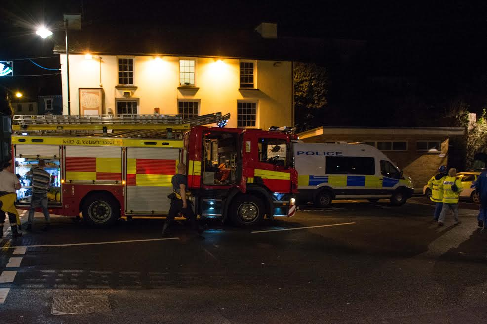 Emergency teams were responding to a call that a woman was going to jump into the Mill Pond (Pic: M Hillen/Herald)