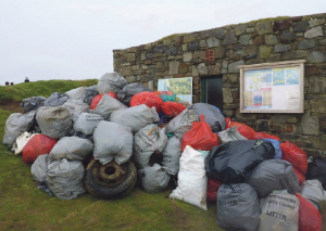 Rubbish: Over 200 bags of litter were collected