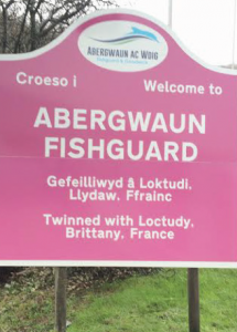 New Fishguard Town signs Pic: Emma Bannister