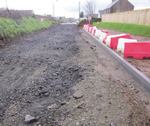 Upgrade: The improvement works on Langford Road, Johnston