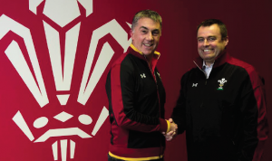 New WRU Head of Rugby Performance Geraint John: Congratulated by WRU CEO Martyn Phillips