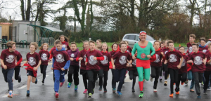 Captain Cymru: With pupils at Narberth CP School enjoying being fit and healthy