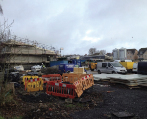 Under construction: The new school in Tenby