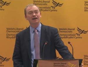 Tim Farron: Lib Dem leader spoke at conference last week