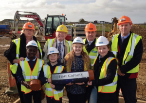 Something for the future: Time capsule buried beneath £6.4m school