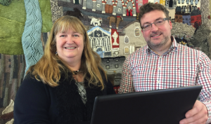 Deputy Minister for Skills and Technology, Julie James: With Clive Davies of 4CG