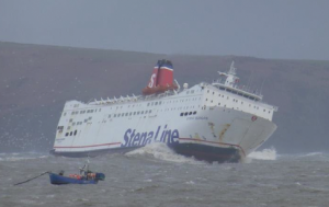 Rough ride: Last year's ferry caught in rough weather