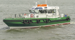 St Brides: The first of three new pilot boats for the Haven