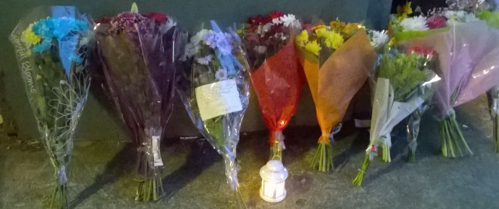 Friends and family have left flowers for Natasha at the scene