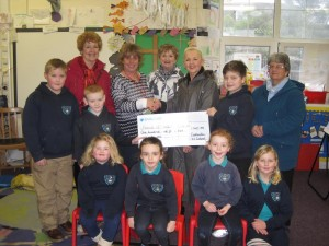 Friends of South Pembs Hospital: With the pupils of Cosheston School