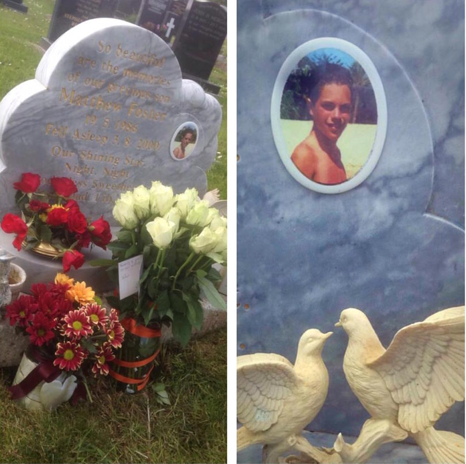 Two white doves: now missing off Matthew Foster's grave