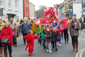 An annual Dragon Parade: Taking place in St Davids