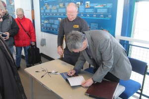 Lifeboat - Author Trevor Barrett signs copies