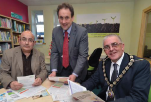 Opening the Hub (L to R): Marc Mordey, Cllr Morse and Cllr Evans