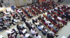 Marine energy event: A packed hall at a seminar in 2015