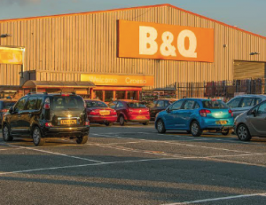Soon to close: B&Q Pembroke Dock (pictured) and Cardigan branch