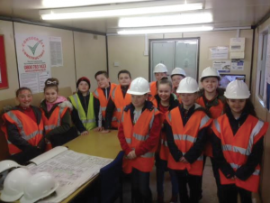 Taster: Monkton Priory CP School Students at Hale Construction