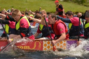 FIerce Competition: The day sees teams of 17 compete on the water