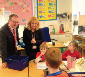 Visiting the pupils: Marc Tierney