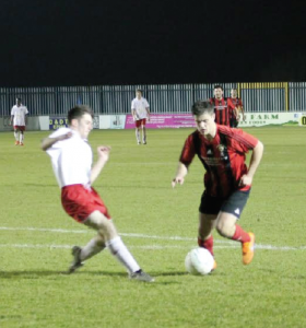 Offside: Rob Morgans thought he had scored but his effort was ruled out