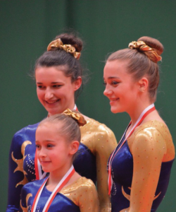Gold medallists: Katy Blockwell, Megan Scale and Lucy Jenkins