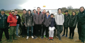 The Pembrokeshire College students: who planted the trees at Tregroes Park, Fishguard with National Park Ranger Richard Vaughan and Tutor Ben Coates