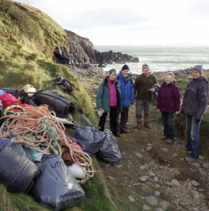 Beach clean organisers: Urged to arrange for the litter they collect to be disposed of. Photo: Keep Wales Tidy