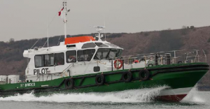 Ready for service: St Bride's pilot boat underway