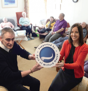 Relaxation session: Charity co-ordinator Lyn Neville and the Port's HR Director Vidette Swales