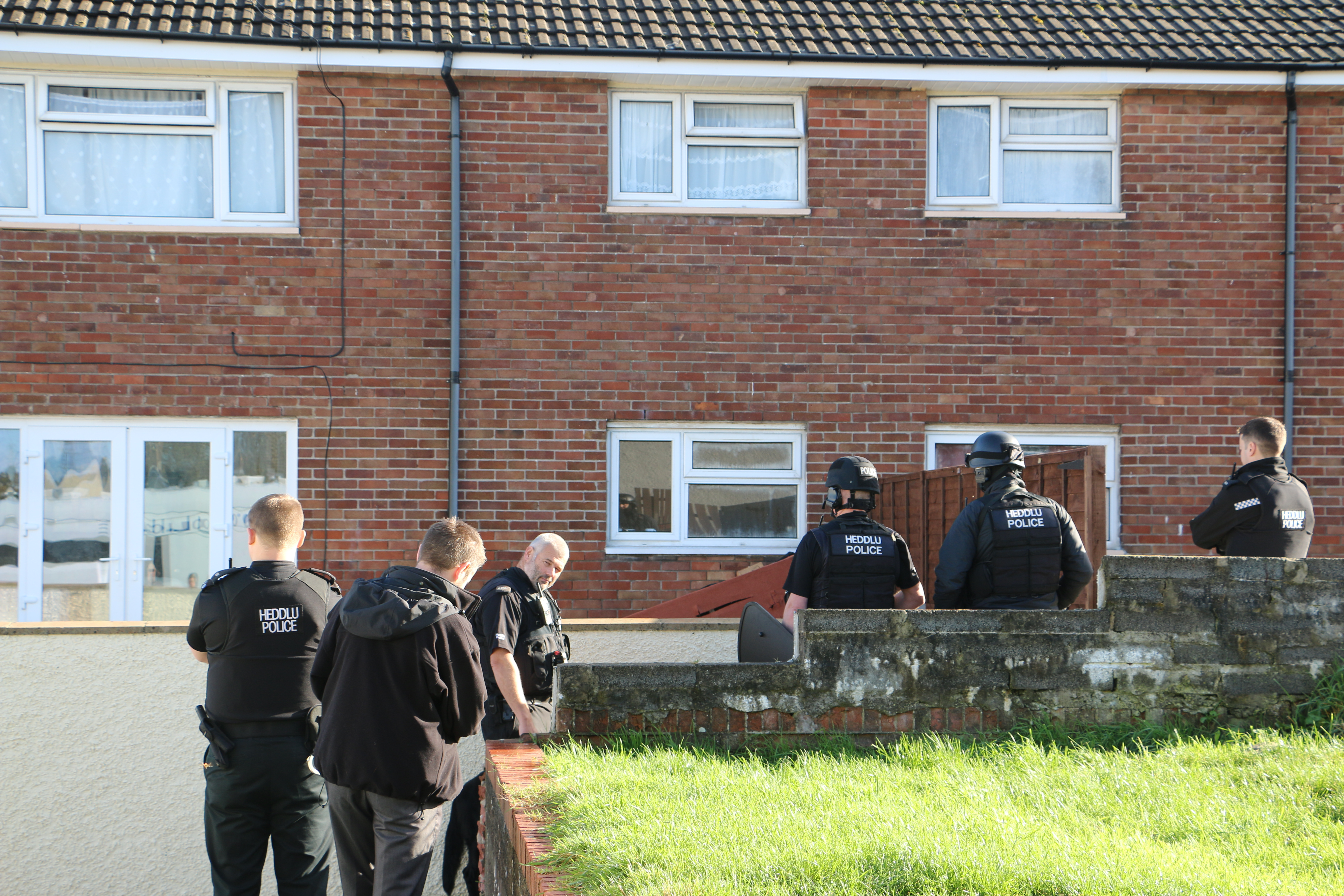 Stand-off: Police at Monkton flat