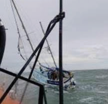 36ft boat drifting quickly: St Davids RNLI lifeboat volunteers were alerted on Sunday morning to the yacht's situation
