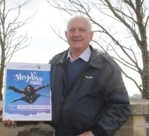 Raising money for Cancer Research Wales: Dilwyn will brave the parachute jump on Saturday May 14